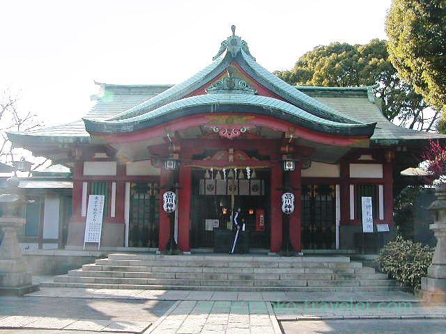 Worship hall, Shinagawa Jinja shrine (Kita Shinagawa)