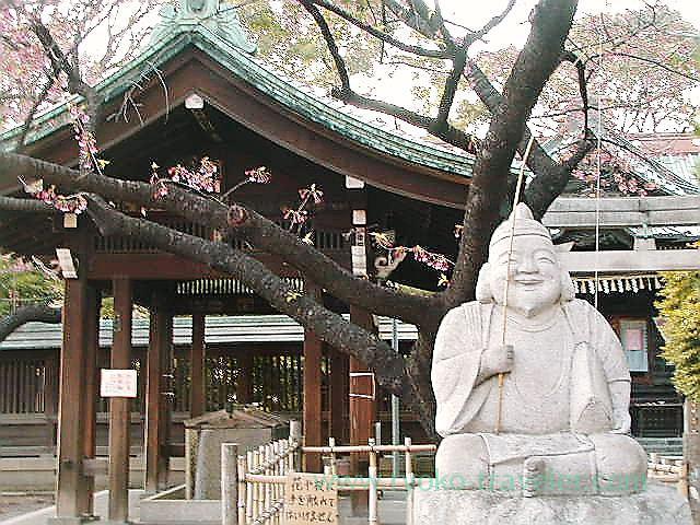 Worship hall and Ebisu, ebara Jinja shrine (Kita Shinagawa)