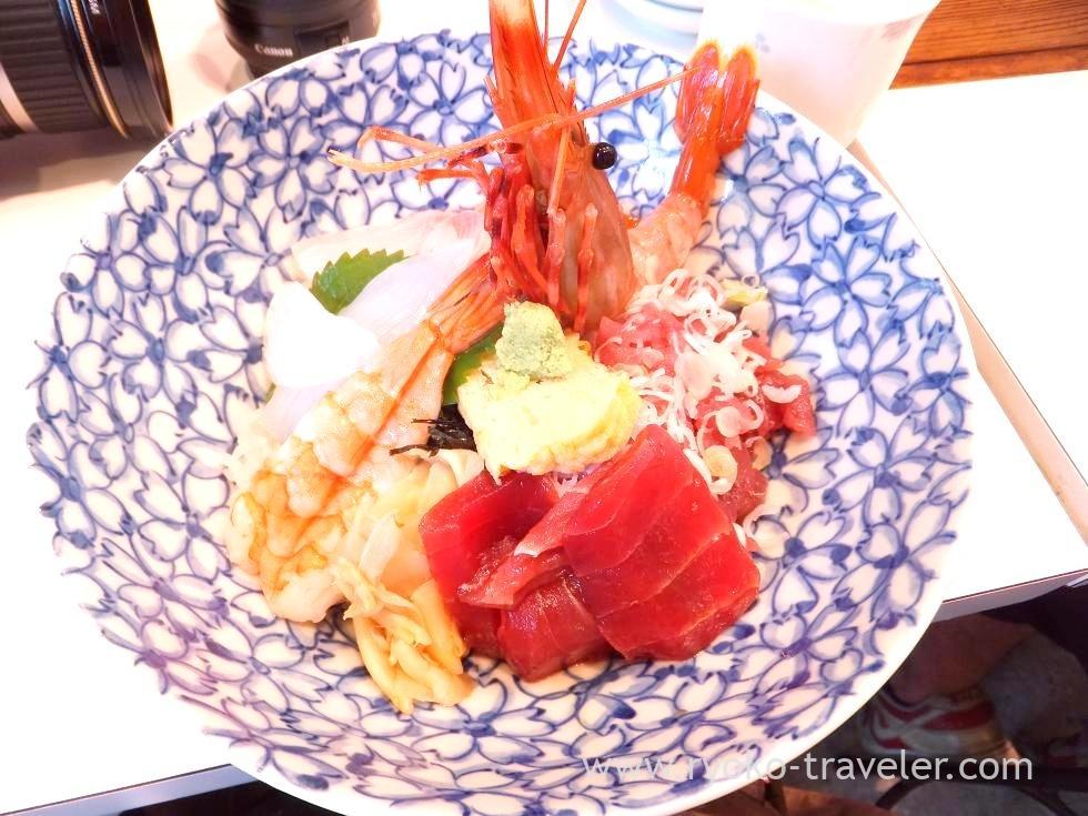 Sashimi bowl, Uogashi-don Kanno (Tsukiji)