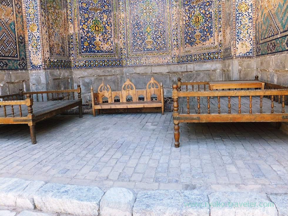 Bench outside, Registan square, Samarquand (Uzbekistan trip 2011)