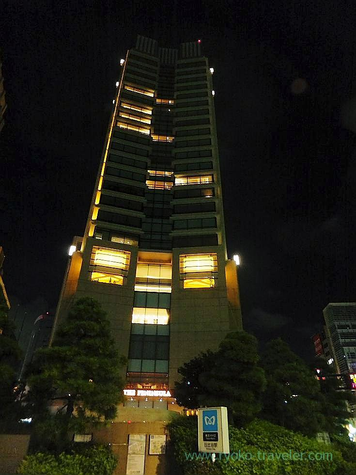 Night view of the appearance, Peninsula Tokyo (Yurakucho)