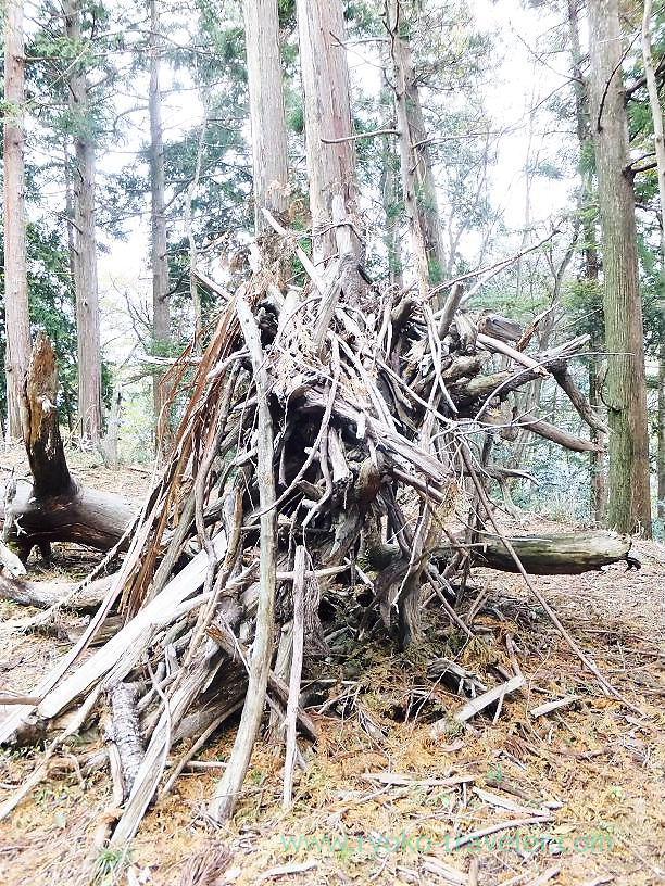 Wooden object ,Konpira jinja shrine ruin (Naguri)