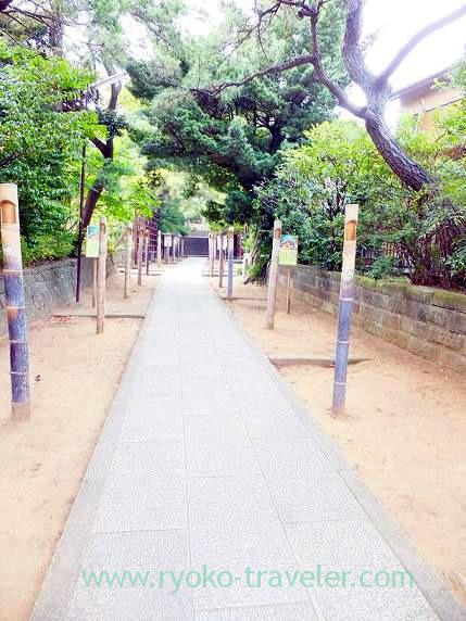 Approach, Towatari Jinja shrine (Shin-Chiba)