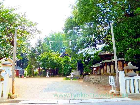 Back gate, Towatari Jinja shrine (Shin-Chiba)