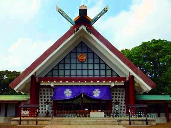 Front shrine, Chiba-ken Gokoku-jinja Shrine (Shin-Chiba)
