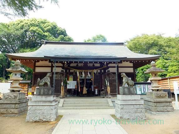 Front shrine, Towatari Jinja shrine (Shin-Chiba)