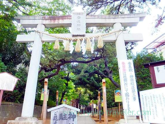 Gate, Towatari Jinja shrine (Shin-Chiba)