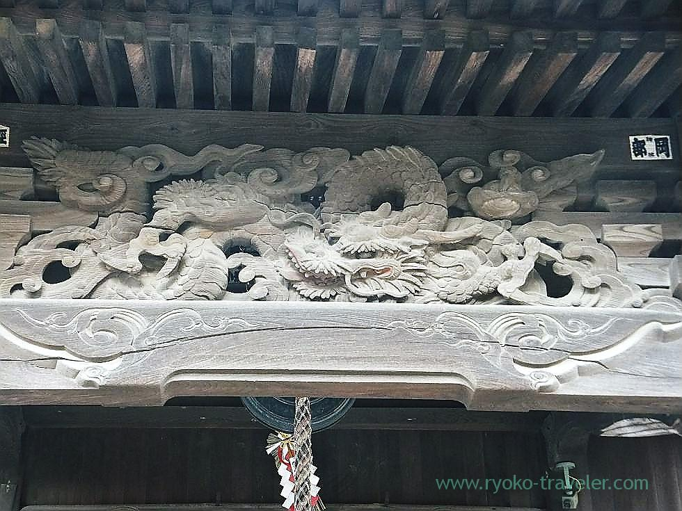 Carving of sho Kannon-do, Shofuku-ji, Narashino Shichifukujin 2012 (Keisei-Okubo)