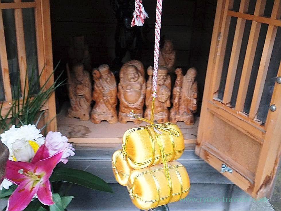 Gold straw ricebags, Tofukuji temple , Narashino Shichifukujin2012 (Tsudanuma)
