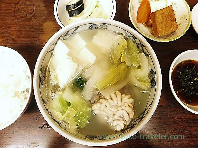 Hotpot with soft roe, katou (Tsukiji Market)