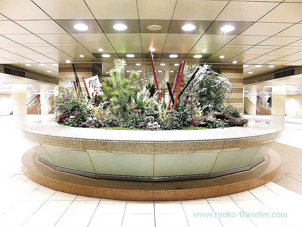New year's display, Shiodome station (Shiodome)