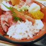 Tsukiji Market : Seafood bowl at Nakaya