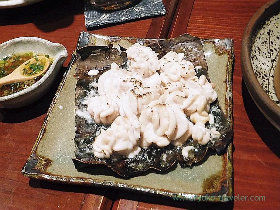 Grilled soft roe with konbu, Yamadaya (Tsukiji)