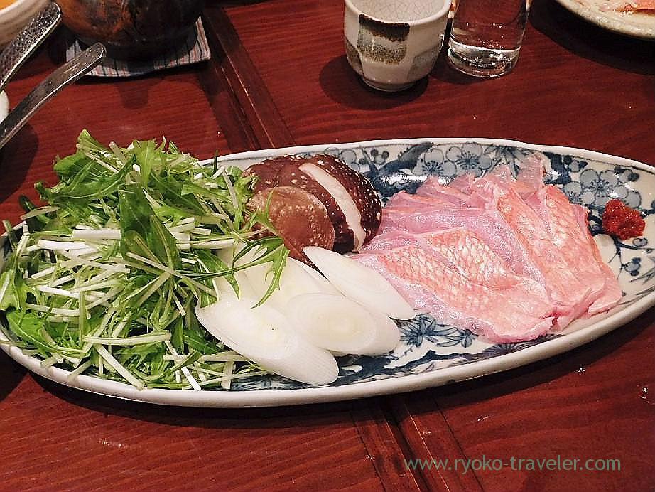 Splendid alfosino shabu shabu, Yamadaya (Tsukiji)