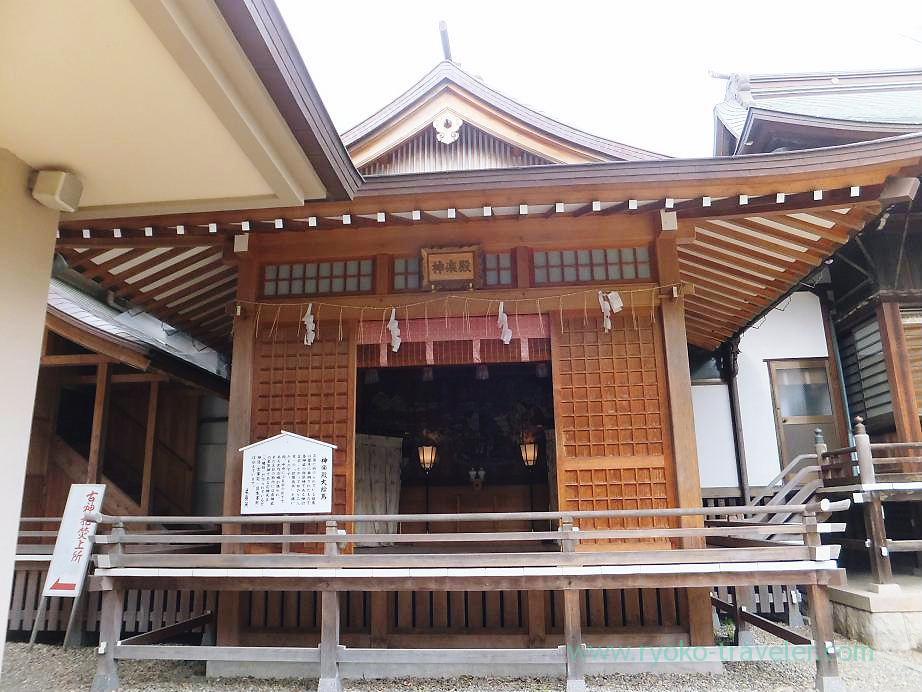 Kagura hall, Katsushika Hachimangu shrine (Motoyawata)