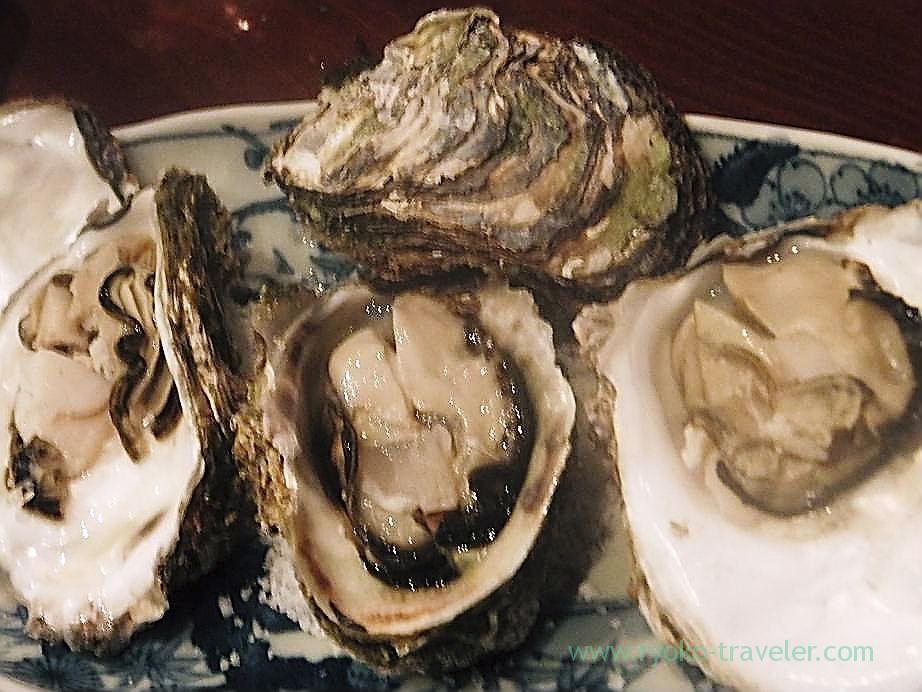 Stemed oysters, Yamadaya (Tsukiji)