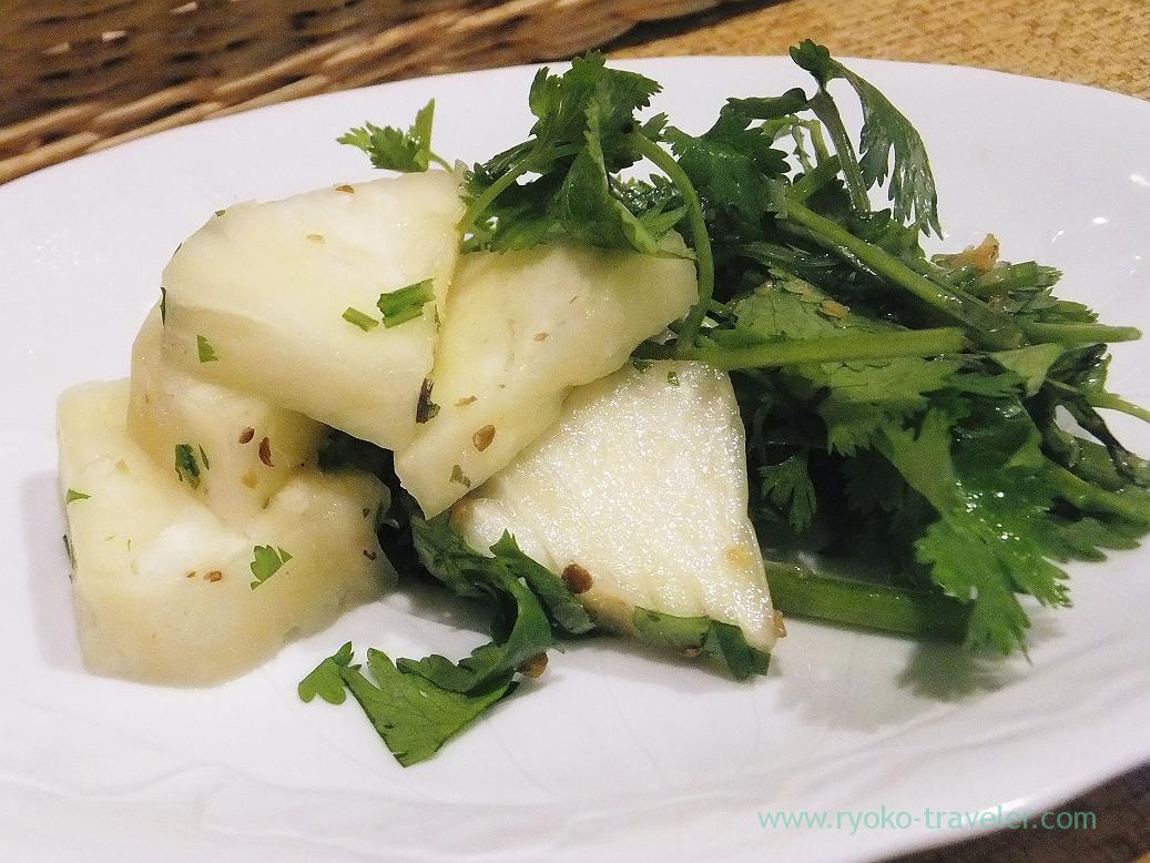 Coriander and pineapple salads, Authentic (Asakusa)