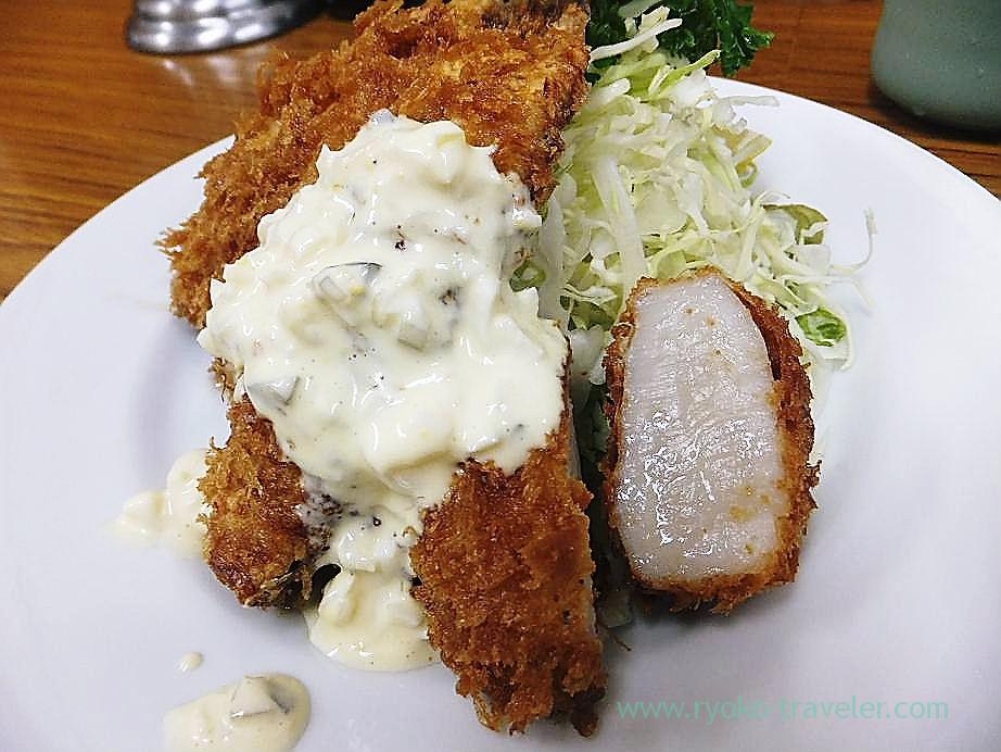 Scallop and horse mackerel, Tonkatsu Yachiyo (tsukiji Market)