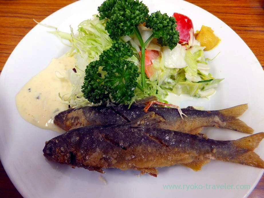 Sweetfish plate, Tonkatsu Yachiyo (Tsukiji Market)