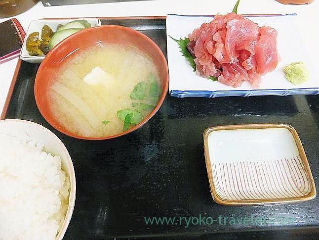 Tuna set, Tenfusa (Tsukiji Market)
