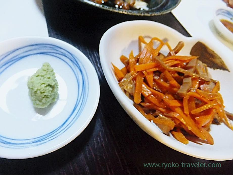 Carrots and squid, Hajime Sengyo-ten (Tsukiji)