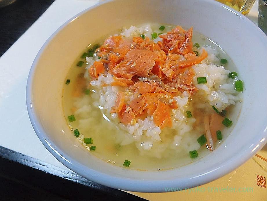 Salmon and chazuke, Hajime Sengyo-ten (Tsukiji)