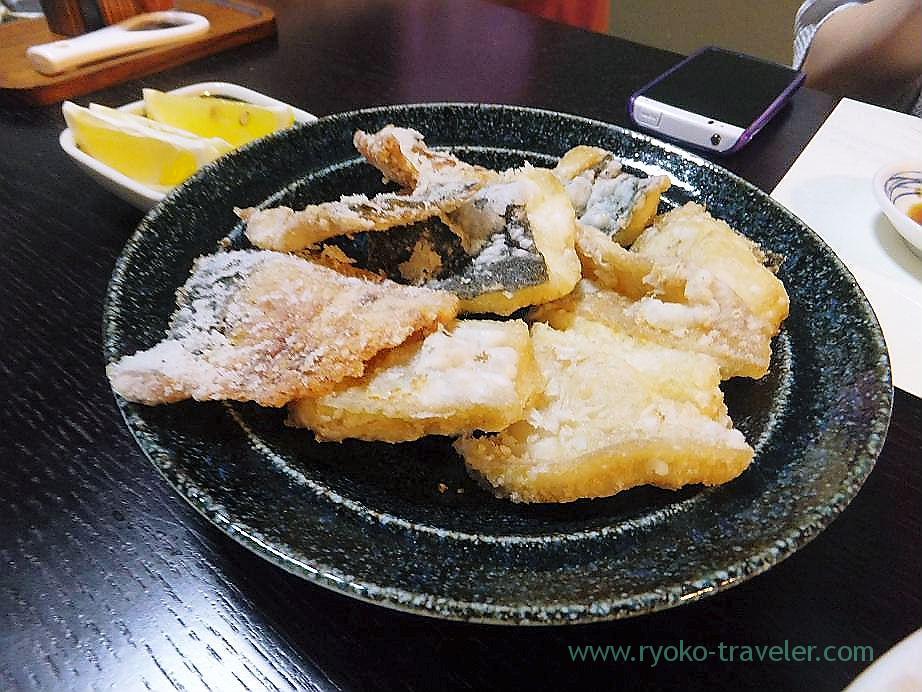 Slime flounder karaage, Hajime Sengyo-ten (Tsukiji)