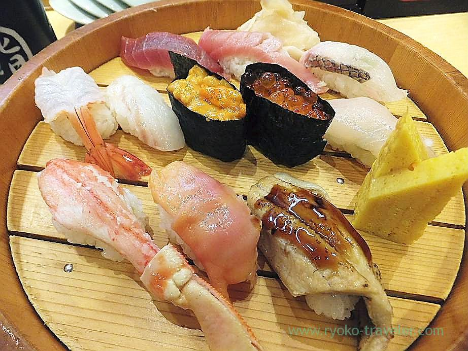 Sushi set, Sushi Yuraku, Narita airport, (Russia 2012)