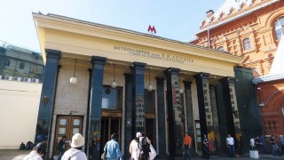 Russia 2012 Summer (3) : Beautiful Ploshchad Revolyutsii Metro Station