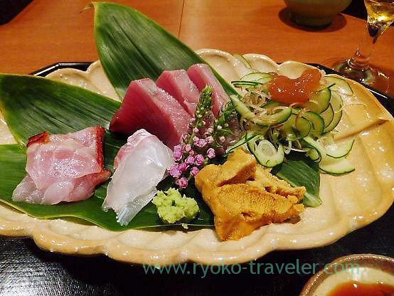 Assorted sashimi, Chawanbu (Yotsuya-sanchome)