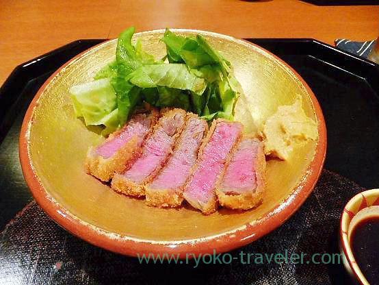 Beef cutlet, Chawanbu (Yotsuya-sanchome)