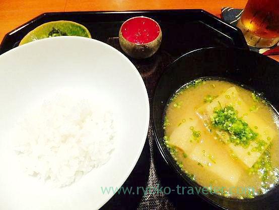 Rice and miso soup, Chawanbu (Yotsuya-sanchome)