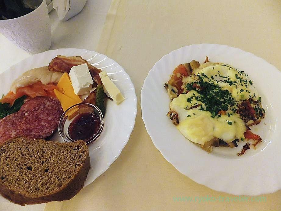 Whole breakfast,Best Western Hotel VEGA, Moscow (Russia 2012)