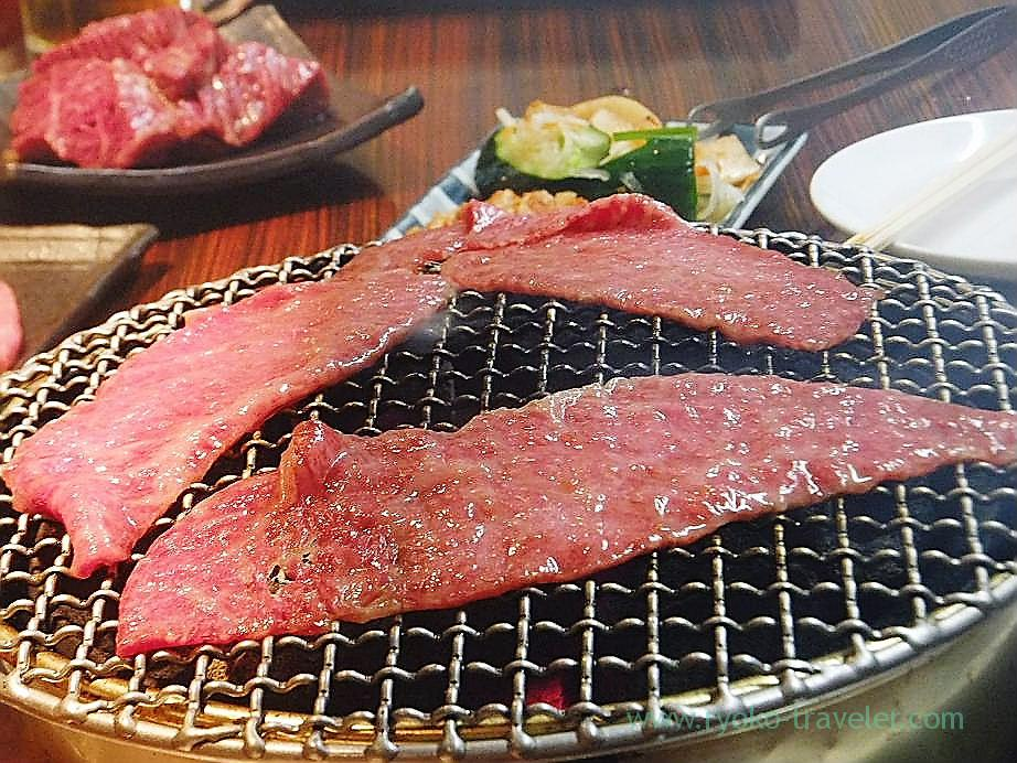 Beefmeats grilled on the shichirin, Shichirin (Minowa)