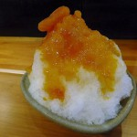 "Kakigori with apricot syrup after eating ""Funabashi sauce ramen"" (Kinshicho)"