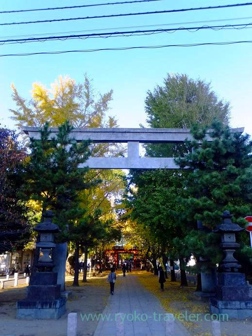 Entrance, Katsushika Hachimangu shrine (Motoyawata)
