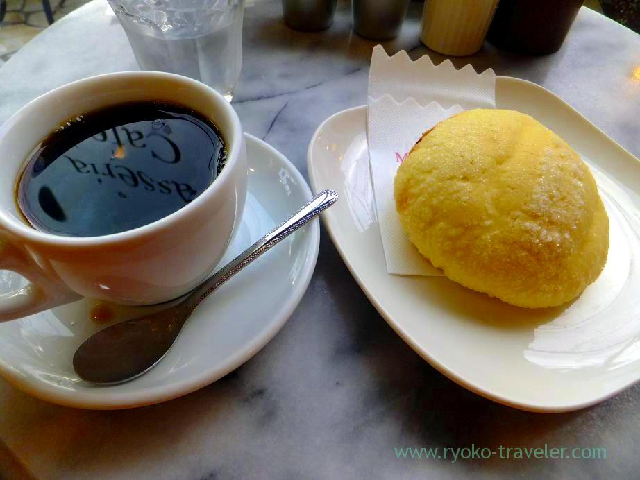 Melon bread and coffee, Masseria cafe (Tsudanuma)