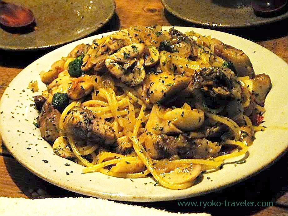 Spaghetti with saury, Rupurin (Ginza)