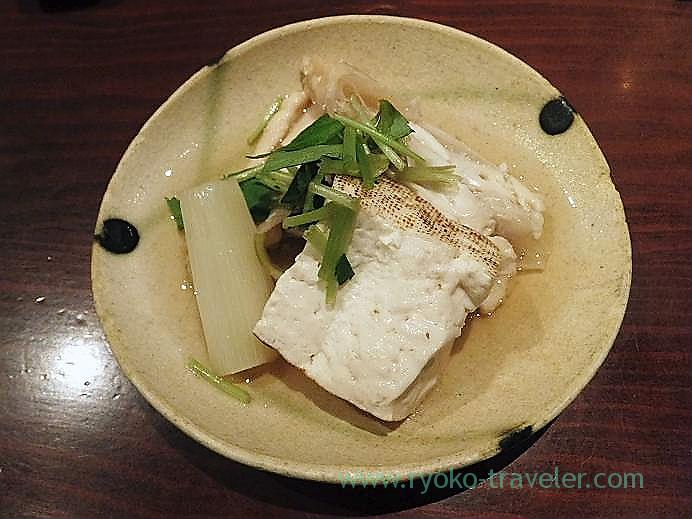 Boiled yellow tail and daikon radish as otoshi, Yamadaya (Tsukiji)