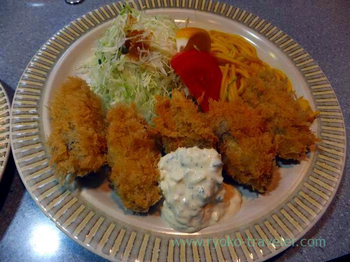 Deep fried oysters, Kachidokitei (Kachidoki)