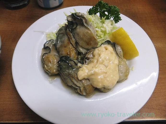 Fried oysters with butter, Odayasu(Tsukiji Market)