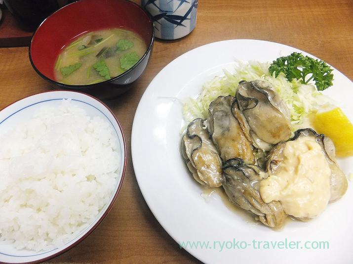 Fried oysters with butter set, Odayasu (Tsukiji Market)