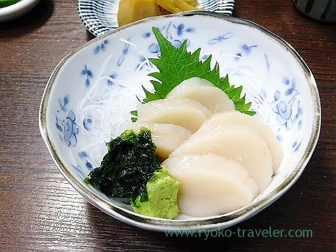 Scallops sashimi, Takahashi (Tsukiji Market)