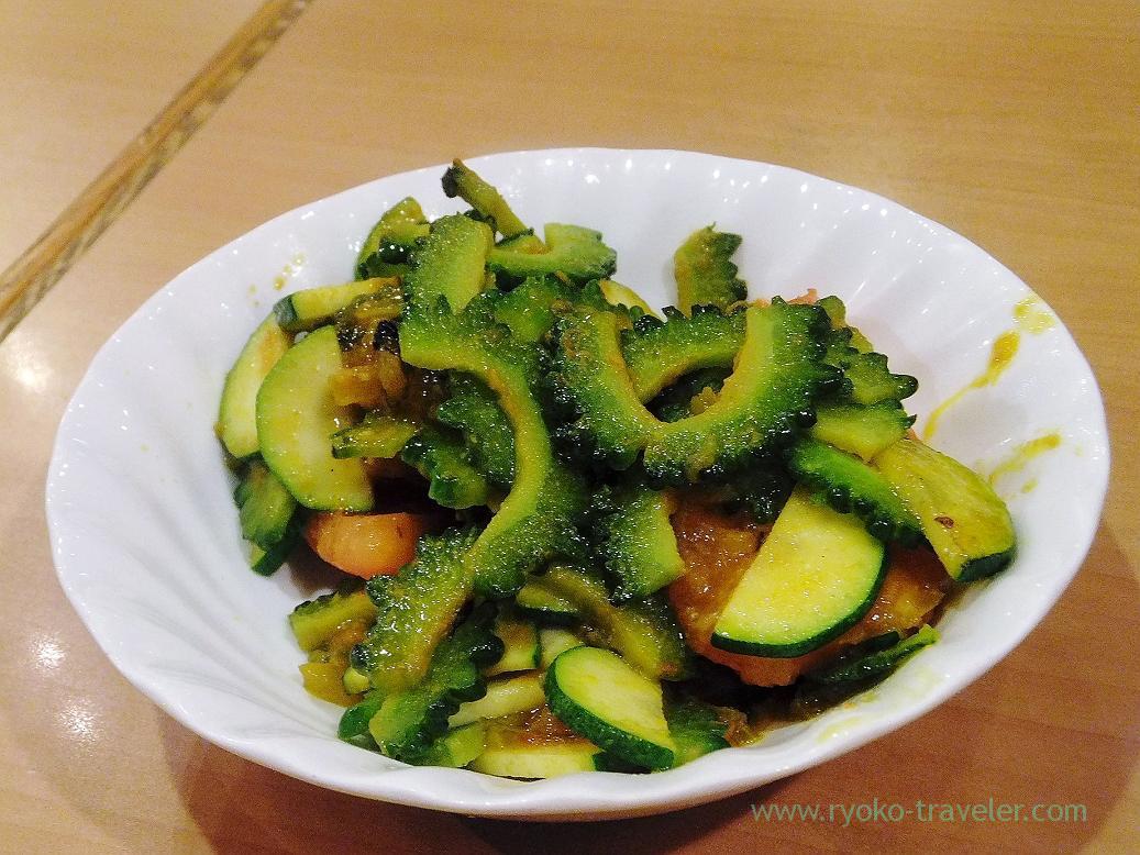 Hot goya salads, Curry restaurant Shiba (Inage)
