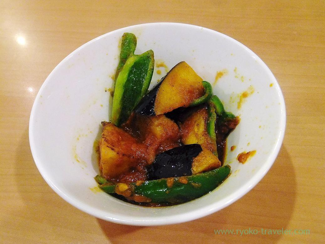 Salads, Curry restaurant Shiba (Inage)