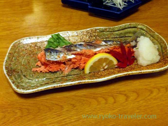 Sardine and mentaiko, Funakko (Higashi-Funabashi)