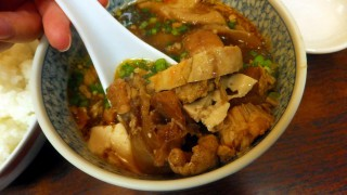Tsukiji Market : Boiled anglerfish with soy sauce