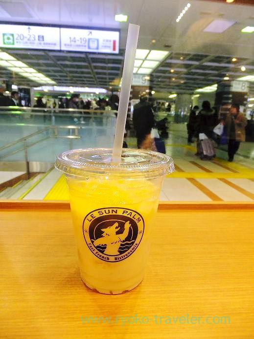 Mango juice, Le sun palm, Tokyo (Tamagoyu 2013)