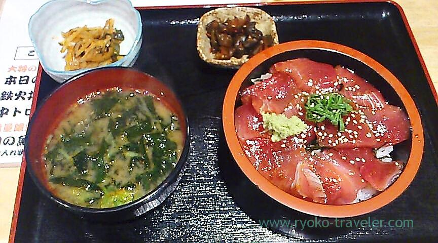 Pickled tuna bowl set, Maguro-ichi (Funabashi)