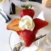 Yotsuya-Sanchome : Strawberry and persimmon parfait at Fukunaga